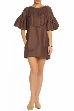 Платье ZHOR&NEMA. Цвет: шоколадный