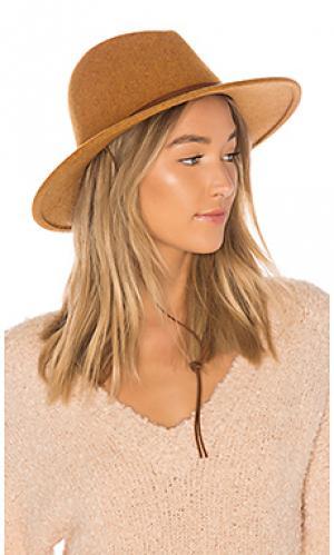 Шляпа field Brixton. Цвет: коричневый