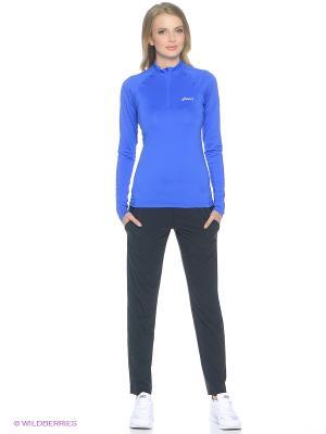 Куртка LS 1/2 Zip Top ASICS. Цвет: синий, фиолетовый