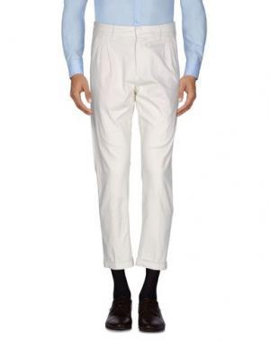 Повседневные брюки EXIBIT. Цвет: слоновая кость