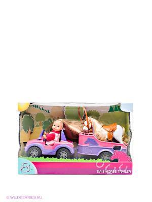 Еви+трейлер с лошадкой, 6/18 Simba. Цвет: сиреневый, розовый
