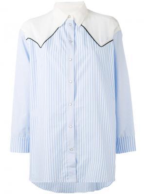 Contrast striped shirt 8pm. Цвет: синий