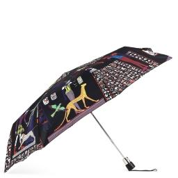 Зонт полуавтомат  1233 черный JEAN PAUL GAULTIER