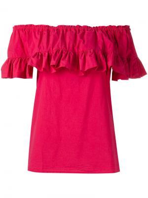 Блузка с рюшами Hache. Цвет: розовый и фиолетовый