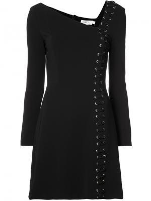 Мини-платье с асимметричным вырезом A.L.C.. Цвет: чёрный