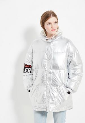 Куртка утепленная Befree. Цвет: серебряный