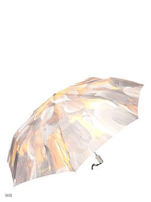 Зонт Slava Zaitsev. Цвет: серый, желтый