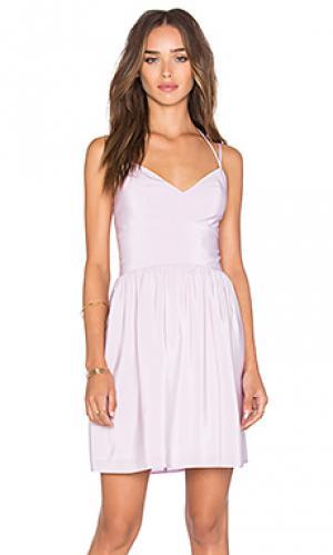 Платье whenever Amanda Uprichard. Цвет: бледно-лиловый