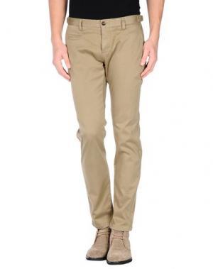 Повседневные брюки DAVID NAMAN. Цвет: зеленый-милитари