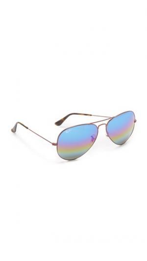 Зеркальные солнцезащитные очки-авиаторы Rainbow Ray-Ban
