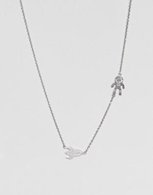ASOS Ожерелье DESIGN. Цвет: серебряный