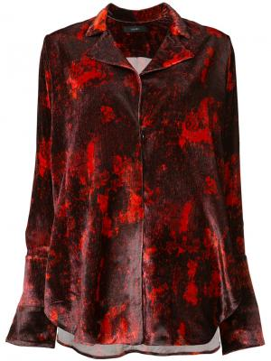 Блуза с принтом Ellery. Цвет: красный