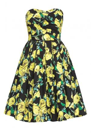 Платье из хлопка 167881 Paola Morena. Цвет: разноцветный