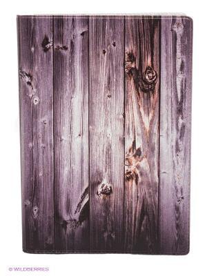 Обложка для автодокументов Дверь Mitya Veselkov. Цвет: сливовый, белый