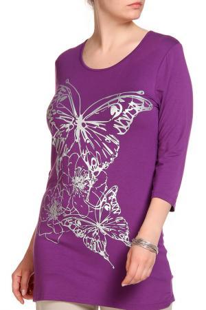 Блуза RITA PFEFFINGER. Цвет: лиловый