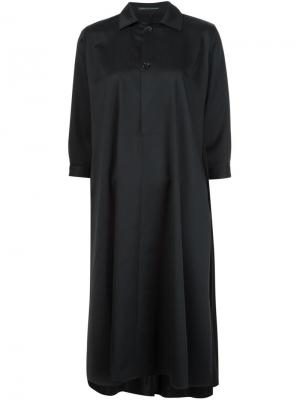 Платье свободного кроя Ys Y's. Цвет: чёрный