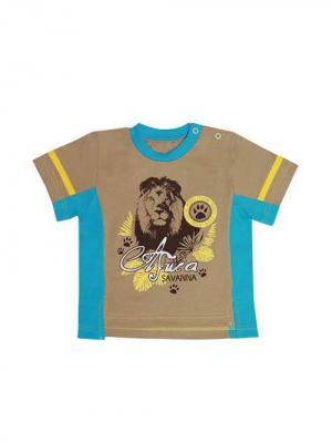 Футболка Курская швейная компания. Цвет: голубой, светло-коричневый