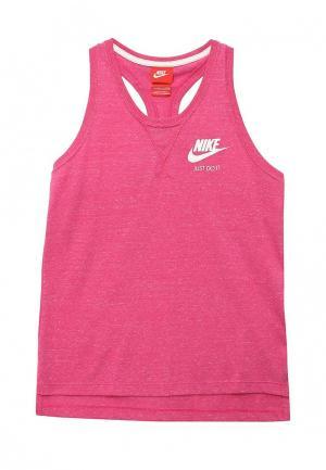 Майка спортивная Nike. Цвет: фуксия