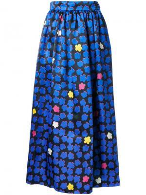 Жаккардовая юбка Ingie Paris. Цвет: синий