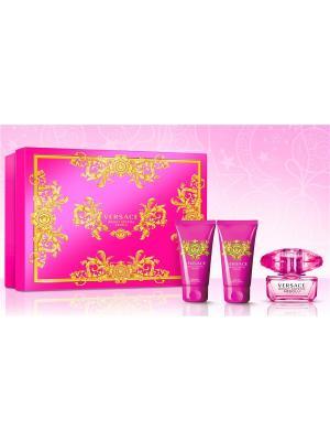Crystal Absolu набор парфюмированная вода, 50 мл + гель для душа, лосьон тела, Versace. Цвет: прозрачный