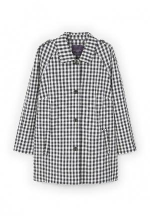 Пальто Violeta by Mango. Цвет: черно-белый