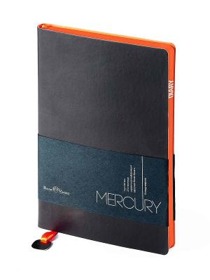 Ежедневник Mercury, А5 Bruno Visconti. Цвет: коричневый