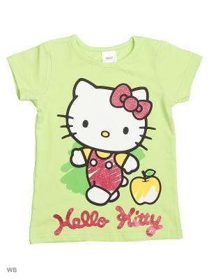 Футболка PlayToday. Цвет: светло-зеленый, белый, желтый, розовый