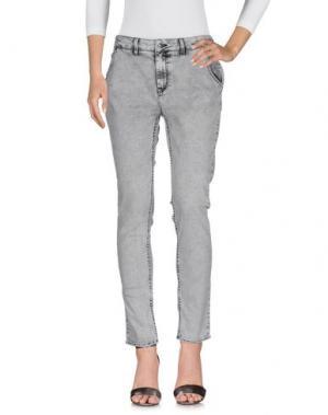 Джинсовые брюки REIKO. Цвет: серый