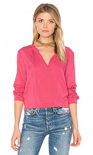 Блуза с v-вырезом jena Velvet by Graham & Spencer. Цвет: розовый