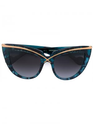 Солнцезащитные очки Lusciousness Anna Karin Karlsson. Цвет: синий