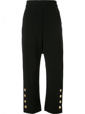 Укороченные брюки Ellery. Цвет: чёрный