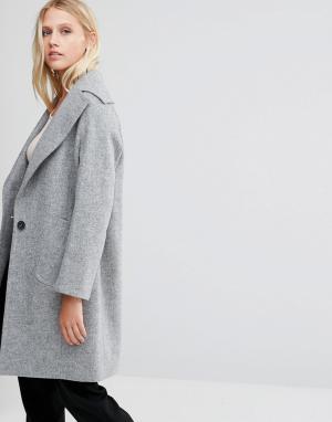 Cooper & Stollbrand Серое пальто. Цвет: серый