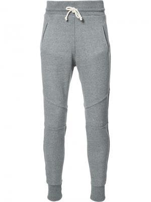 Классические спортивные брюки John Elliott. Цвет: серый