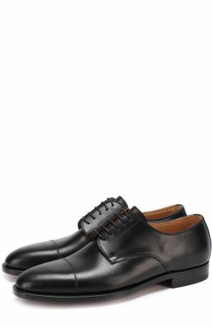 Классические кожаные дерби Kiton. Цвет: черный
