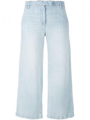 Укороченные широкие джинсы Current/Elliott. Цвет: синий