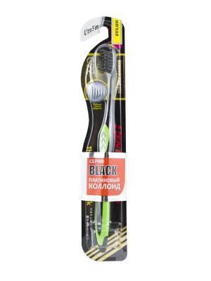Зубная щетка Black Ultra Slim мягкая DENTALPRO. Цвет: зеленый