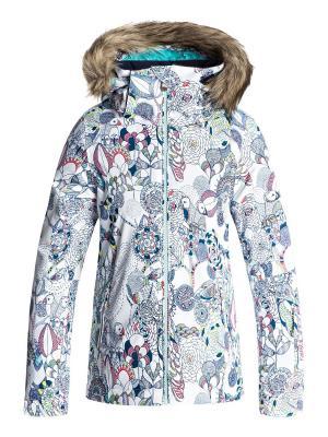 Куртка ROXY. Цвет: белый, бирюзовый, синий