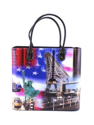 Набор из 2 декорат. сумок-корзин Megapolis essentic. Цвет: синий