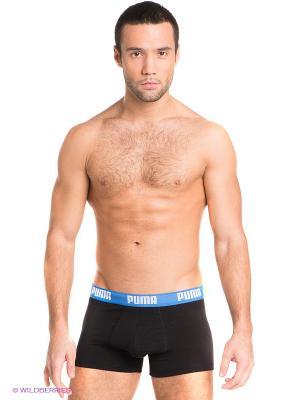Трусы Puma Basic Shortboxer, 2 шт.. Цвет: черный, синий, красный
