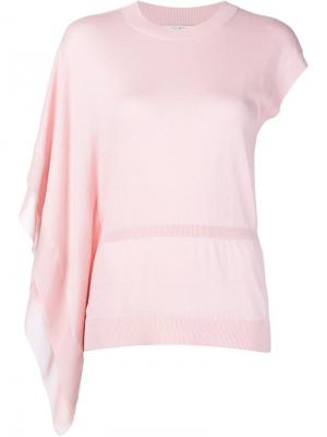 Топ на одно плечо Halston Heritage. Цвет: розовый и фиолетовый