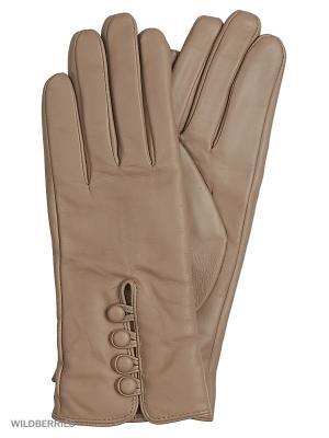 Перчатки женские Marco Bonne`. Цвет: темно-бежевый