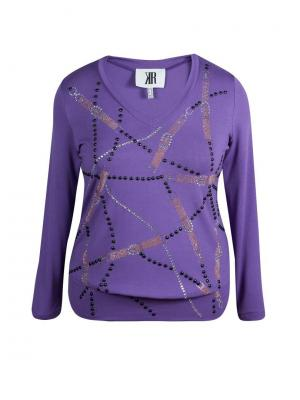 Блузка KR. Цвет: темно-фиолетовый