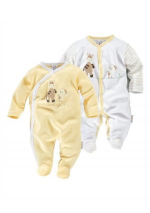 Пижама, 2 штуки KLITZEKLEIN. Цвет: желтый/белый