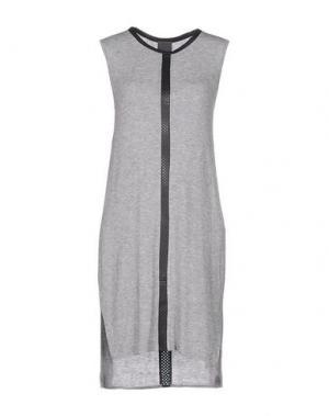 Короткое платье LOT 78. Цвет: серый