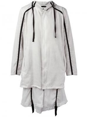 Пальто с капюшоном Thom Krom. Цвет: серый