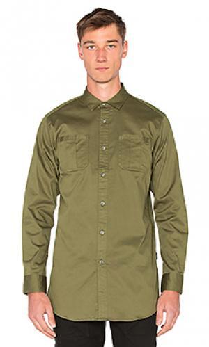Рубашка на пуговицах cason Publish. Цвет: оливковый