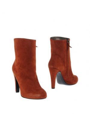 Полусапоги и высокие ботинки NEW YORK INDUSTRIE. Цвет: ржаво-коричневый