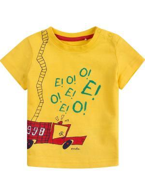 Футболка Endo. Цвет: желтый