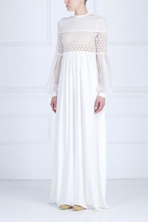 Однотонное платье Veronique Branquinho. Цвет: белый