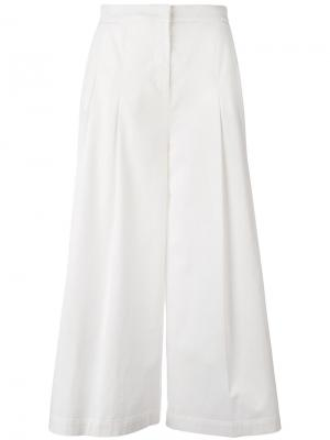 Укороченные расклешенные брюки Fabiana Filippi. Цвет: белый